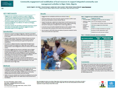 Photo for: Community engagement and mobilisation of local resources to support integrated community case management activities in Niger state, Nigeria