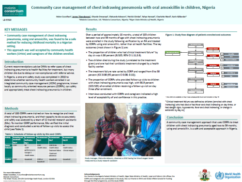 Photo for: Community case management of chest indrawing pneumonia with oral amoxicillin in children in Nigeria