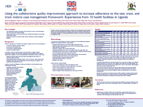 Photo for: Using the collaborative quality improvement approach to increase adherence to the test, treat, and track malaria case management framework: Experiences from 10 health facilities in Uganda