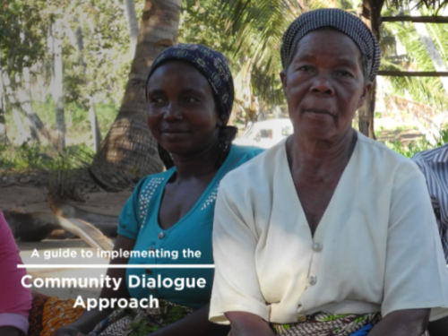 Photo for: A guide to implementing the community dialogue approach