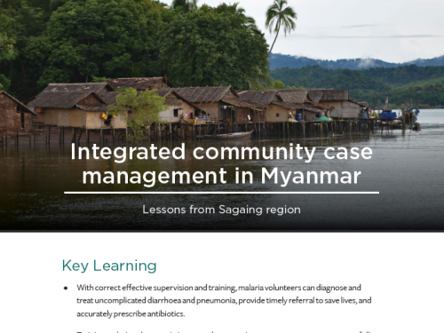 Photo for: iCCM in Myanmar: Lessons from Sagaing region