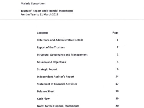 Photo for: Trustees' Report and Financial Statements For the Year to 31 March 2018