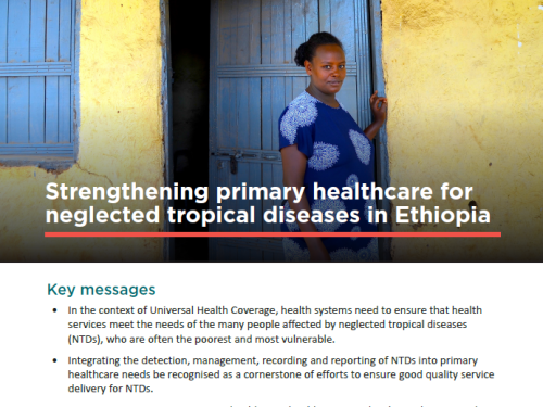 Photo for: Strengthening primary healthcare for neglected tropical diseases in Ethiopia