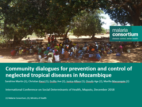 Photo for: Community dialogues for prevention and control of neglected tropical diseases in Mozambique