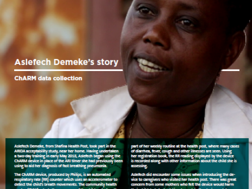 Photo for: ChARM data collection: Aslefech Demeke's story