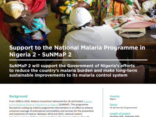 Photo for: Support to the National Malaria Programme in Nigeria 2 - SuNMaP 2