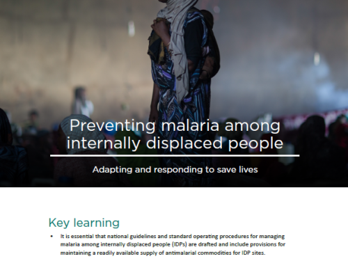 Photo for: Preventing malaria among internally displaced people: Adapting and responding to save lives