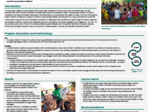 Photo for: Community dialogues for the prevention and control of neglected tropical diseases in Nampula province, Mozambique