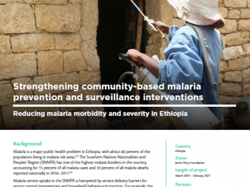Photo for: Strengthening community-based malaria prevention and surveillance interventions