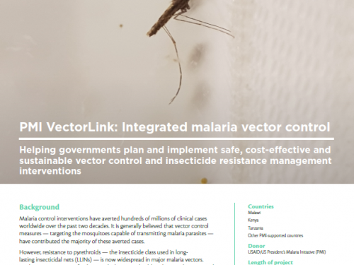 Photo for: PMI VectorLink: Integrated malaria vector control
