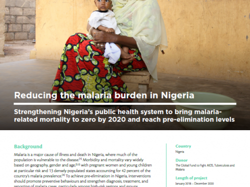 Photo for: Reducing the malaria burden in Nigeria