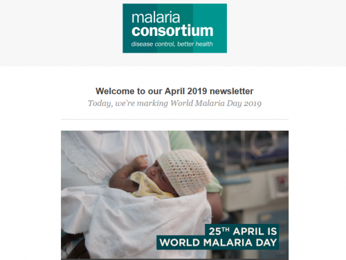 Photo for: April 2019 newsletter - World Malaria Day