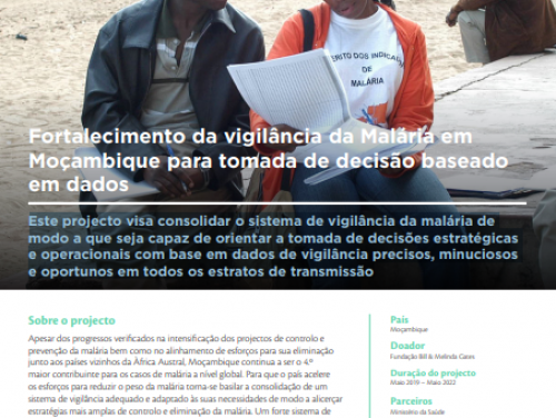 Photo for: Fortalecimento da vigilância da Malária em Moçambique para tomada de decisão baseado em dados