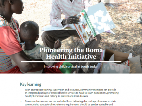 Photo for: Pioneering the Boma Health Initiative