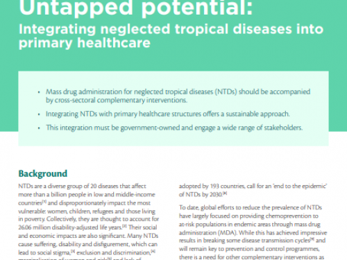 Photo for: Untapped potential: Integrating neglected tropical diseases into primary healthcare