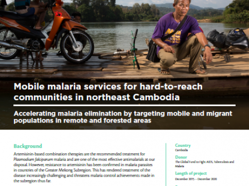 Photo for: Mobile malaria services for hard-to-reach communities in northeast Cambodia