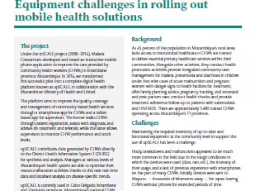 Photo for: Equipment challenges in rolling out mobile health solutions