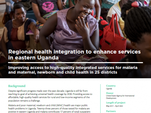 Photo for: Regional health integration to enhance services in eastern Uganda