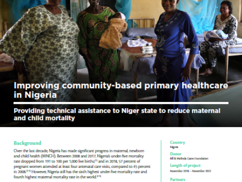 Photo for: Improving community-based primary healthcare in Nigeria
