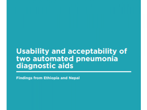 Photo for: Usability and acceptability of two automated pneumonia diagnostic aids: Findings from Ethiopia and Nepal