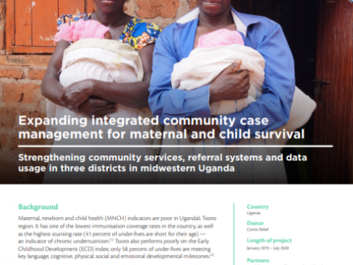 Photo for: Expanding integrated community case management for maternal and child survival
