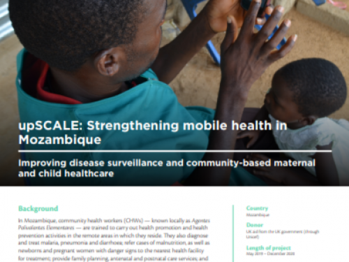 Photo for: upSCALE: Strengthening mobile health in Mozambique