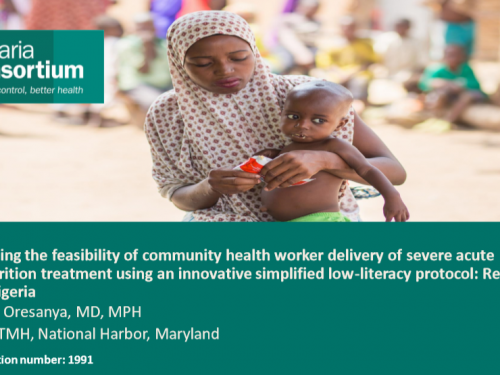 Photo for: Examining the feasibility of community health worker delivery of severe acute malnutrition treatment using an innovative simplified low-literacy protocol: Results from Nigeria