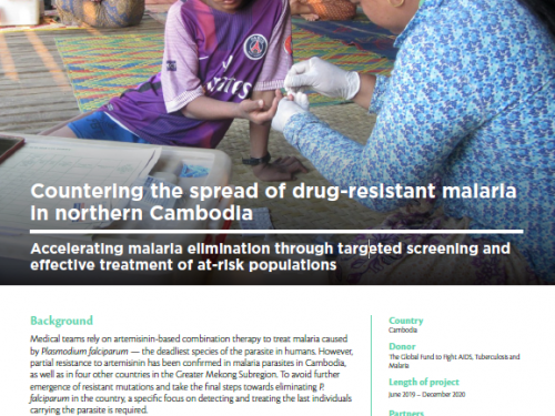 Photo for: Countering the spread of drug-resistant malaria in northern Cambodia