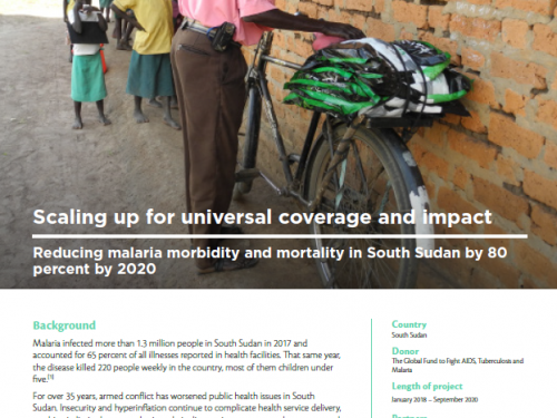 Photo for: Scaling up for universal coverage and impact