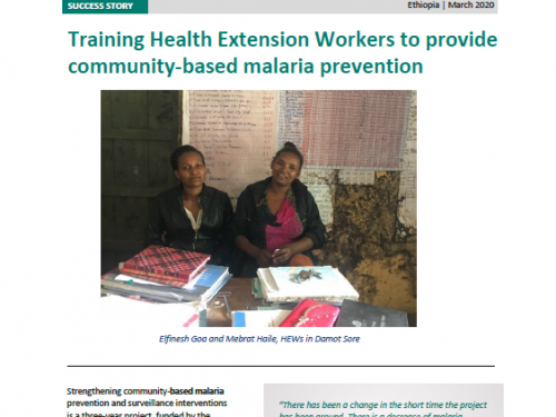 Photo for: Training Health Extension Workers in Ethiopia to provide community-based malaria prevention