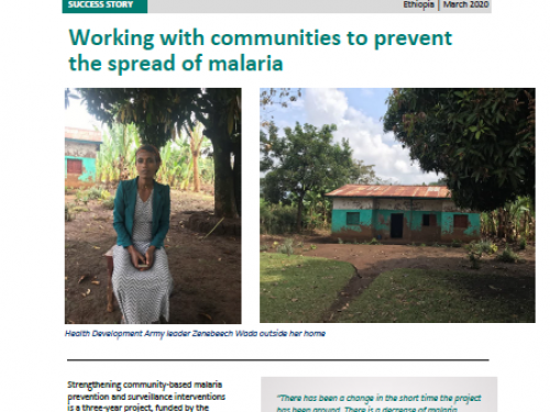 Photo for: Working with communities in Ethiopia to prevent the spread of malaria