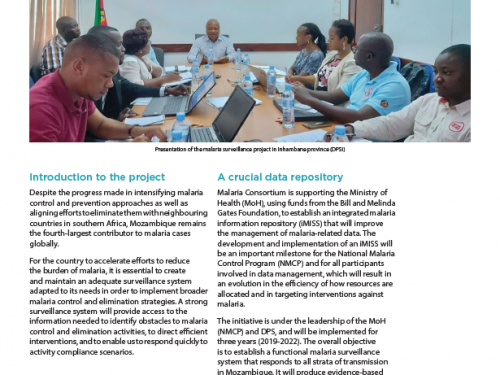 Photo for: April 2020 Surveillance malaria newsletter Mozambique