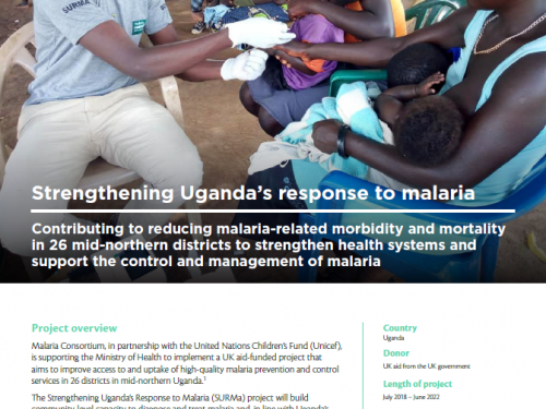 Photo for: Strengthening Uganda's response to malaria