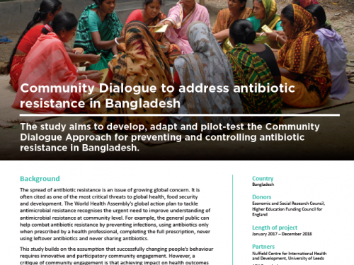 Photo for: Community dialogue to address antibiotic resistance in Bangladesh