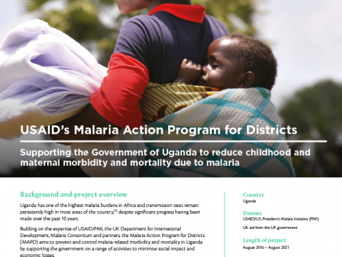 Photo for: Supporting government to control malaria in Uganda