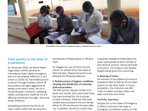 Photo for: October 2020 surveillance malaria newsletter Mozambique