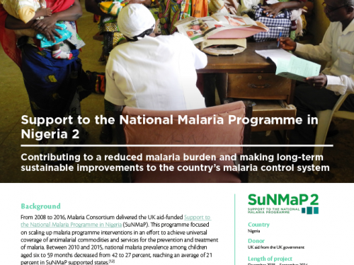 Photo for: Support to the National Malaria Programme in Nigeria 2