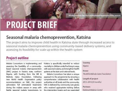 Photo for: Seasonal malaria chemoprevention in Northern Nigeria