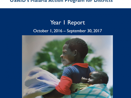 Photo for: USAID Malaria Action Program for Districts: Year 1 report