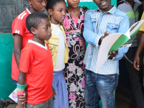 Photo for: School children spread the word about malaria prevention