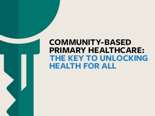 Photo for: Community-based Primary Healthcare: the key to unlocking health for all