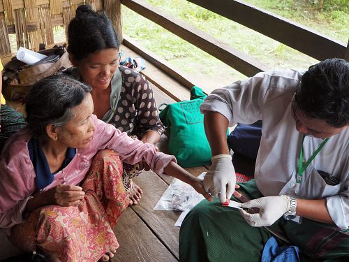 Photo for: Malaria prevalence study using blood samples finds large hidden infection reservoir in Myanmar