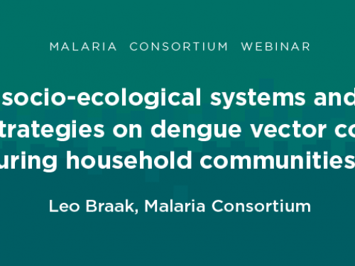 Photo for: Webinar: Impact of SESR-based strategies on dengue vector control in communities in Cambodia