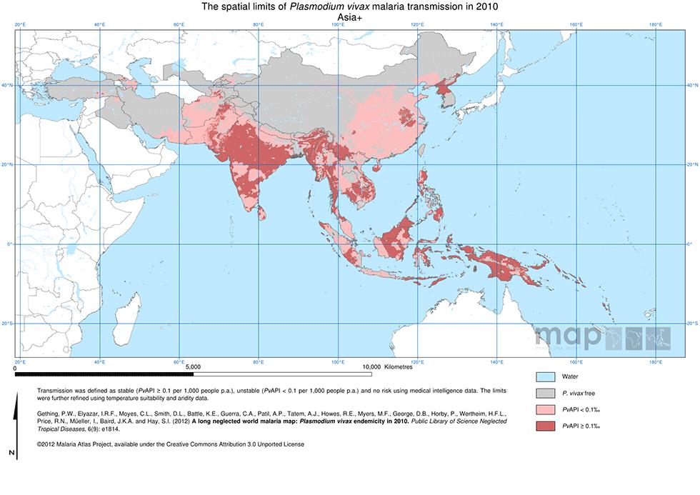 World Atlas Map Of Asia.Interactive Malaria Guide Malaria Information