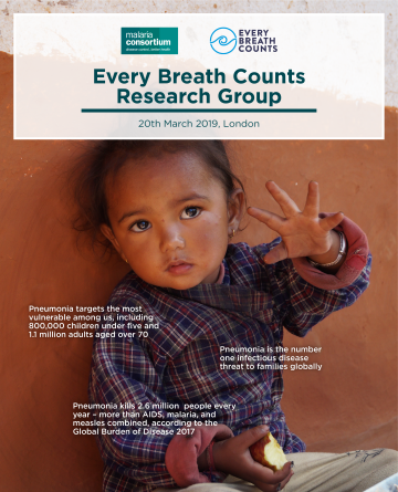 Latest News Malaria consortium hosts the first every breath counts research group meeting