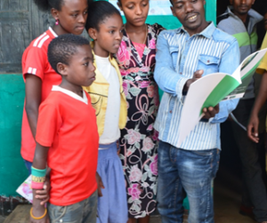 Photo for School children spread the word about malaria prevention