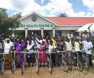 Photo for Fundraising campaign provides Ugandan health workers with bicycles to reach more and harder to reach communities