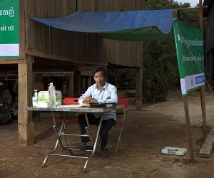 Photo for Community health workers are key to successful malaria elimination projects in Cambodia during COVID-19