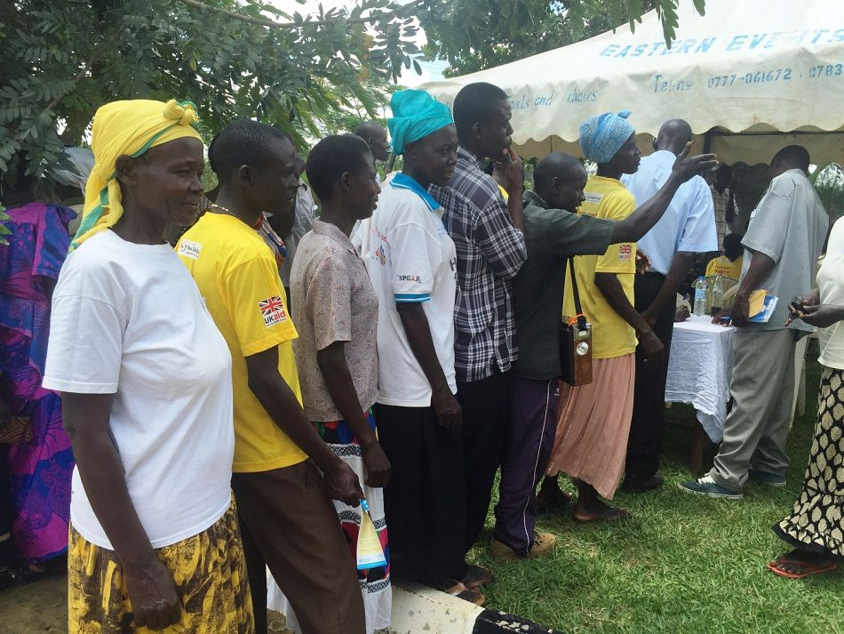 pAfter village health team members register they choose which bicycle they would likep