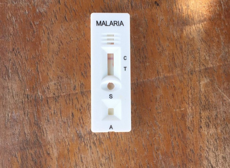 pWith just a pin prick of blood a rapid diagnostic test like this one can immediately determine if someone has malariap